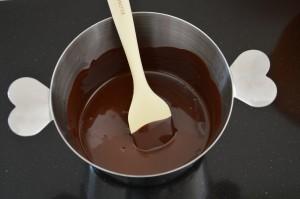 smeltet chokolade